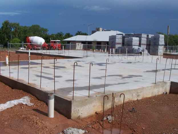 Raft slab foundation
